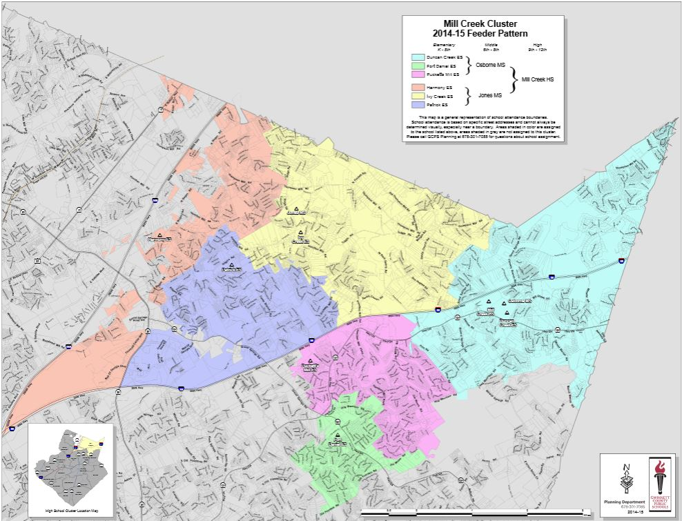 School Cluster Map Mill Creek High