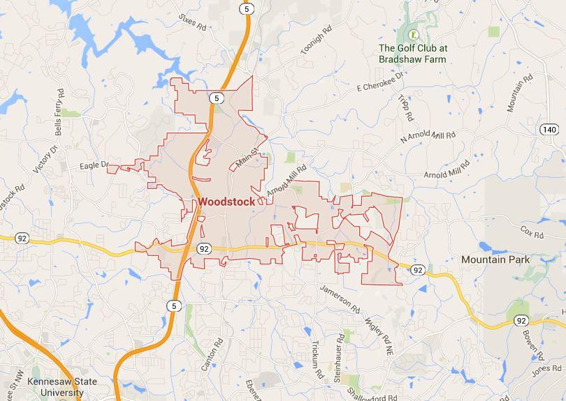 Woodstock Georgia Map Location